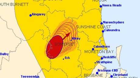 A storm warning active for the Sunshine Coast.