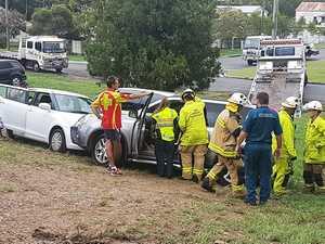 Three car crash at Limestone Park