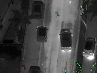 A still from Polair footage of a massive police pursuit. Picture: Queensland Police