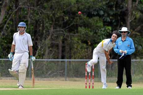 CRICKET: Maroochydore v Nambour in a two-day match at Buderim.  Nambour's bowler Brad Ilott.