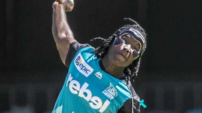 Heat bowler Deandra Dottin during the WBBL match against the Adelaide Strikers.