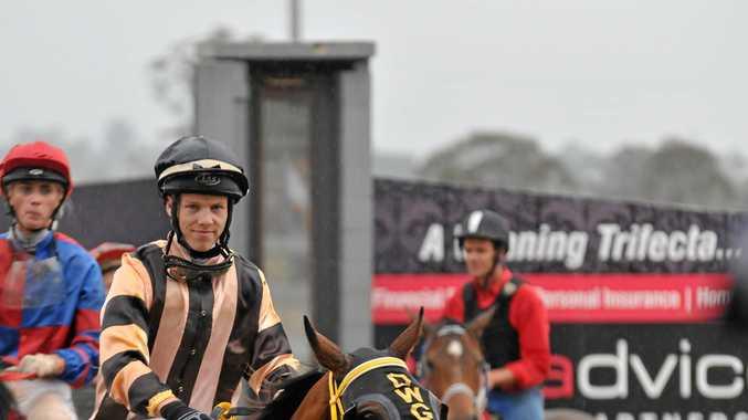 TWICE AS GOOD: Jockey Corey Bayliss rode a winning double at the Ballina Jockey Club meeting yesterday.