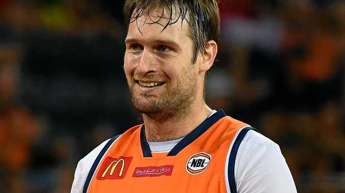 Mark Worthington of the Taipans smiles during the round 16 NBL match between Cairns and the Illawarra Hawks.