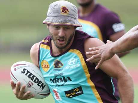 Ben Hunt at Broncos training.