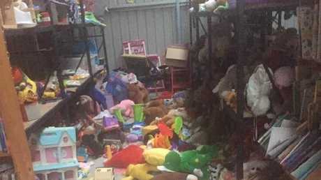 One of the photos of the mess posted to the Green Shed Facebook page.