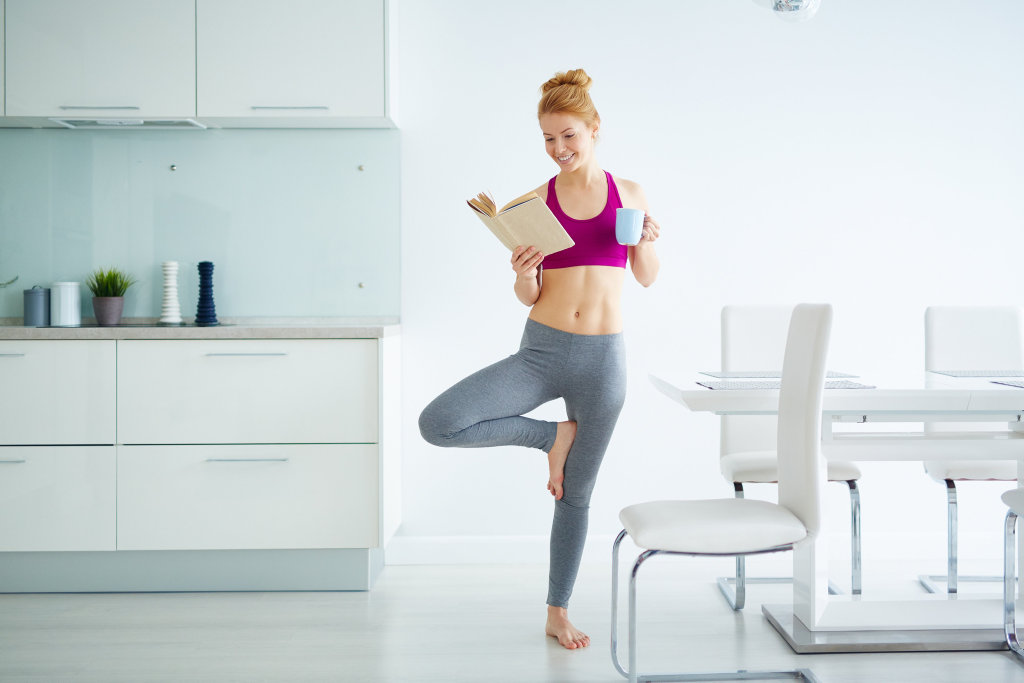 Why not combine yoga with reading?