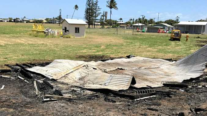 ARSON SUSPECTED: Detectives are investigating after a historic boat shed was destroyed by fire in the early hours of yesterday morning. Photo Contributed
