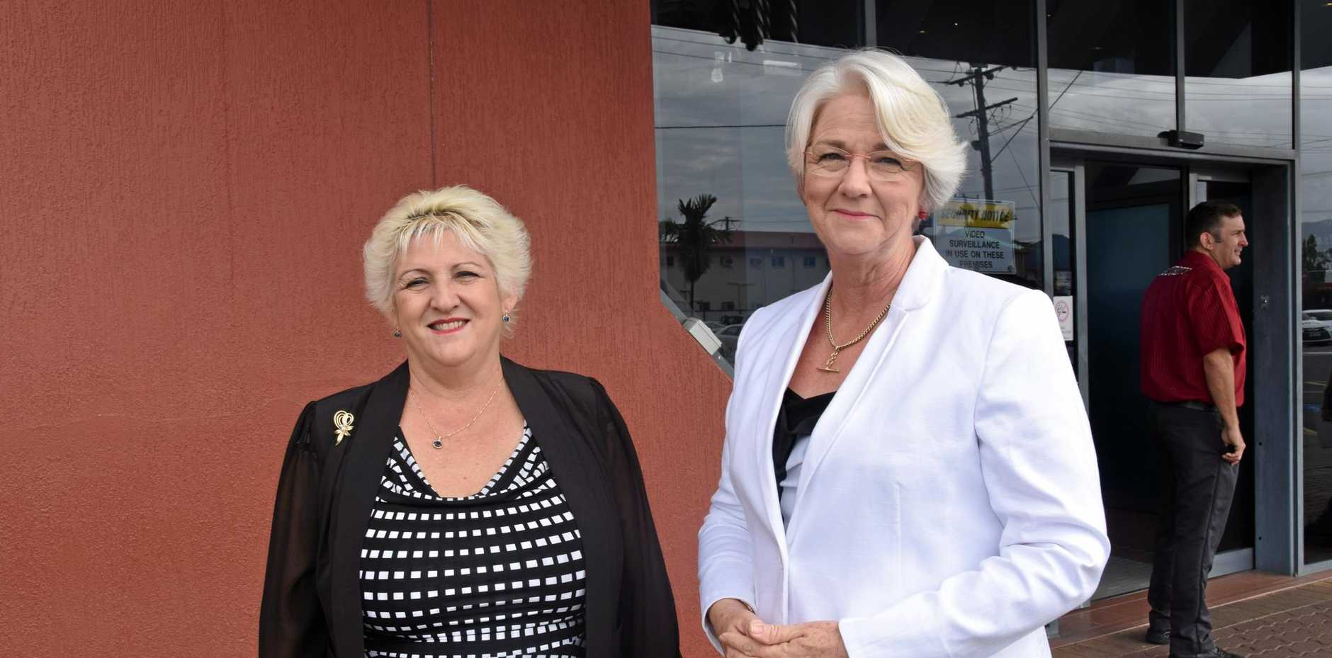 Capricornia MP Michelle Landry and Rockhampton Region mayor Margaret Strelow are both excited following the Adani business meeting.