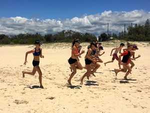 Hot sands help Lockyer athletes burn off the calories