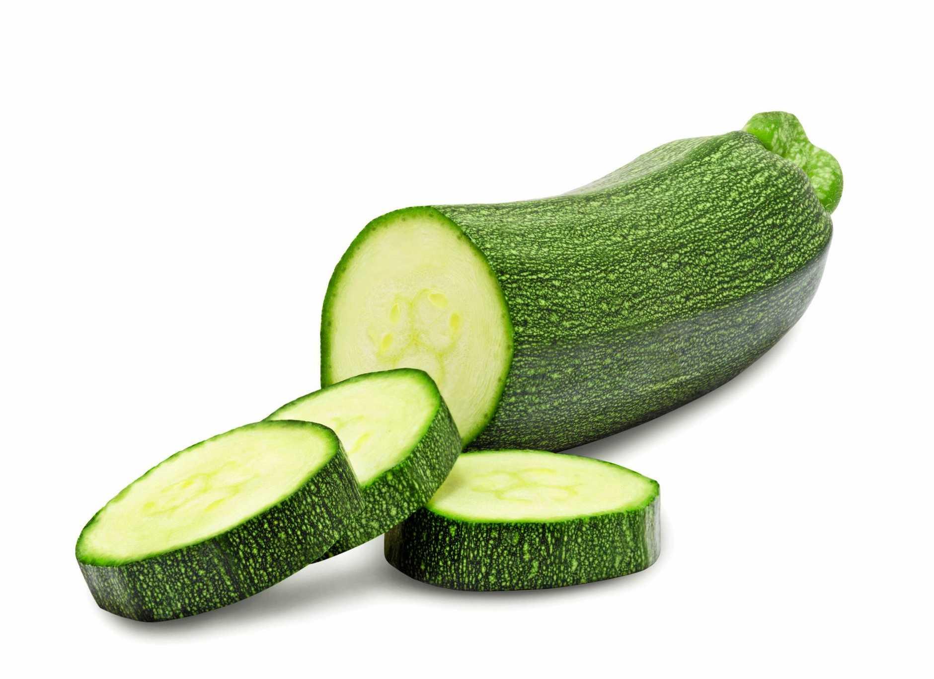 Fresh cut zucchini.