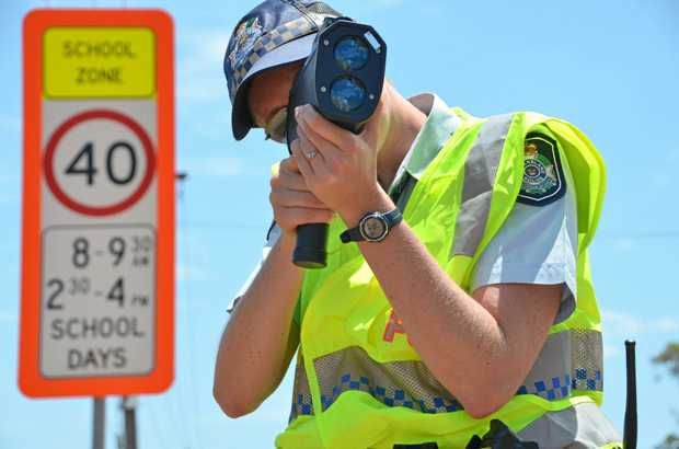 There were reports on Monday afternoon of a car travelling 120kmh in a school zone.