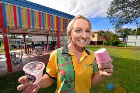 TASTE TEST: Mammino's Gourmet Ice Cream store manager Ashlee Christiansen outside the shop in 2014.