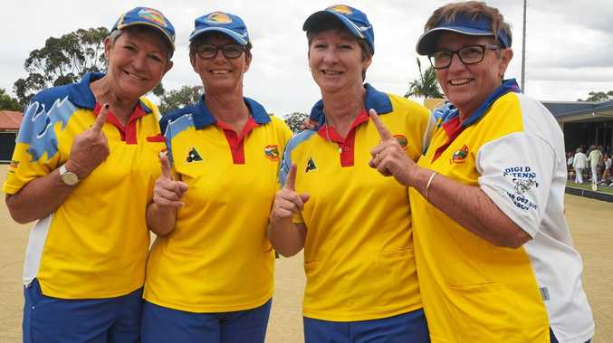 CHAMP OF CHAMPS: The Coolum Beach team of Louise Witton, Marilyn Clayton, Brenda Balchin, Liza Burgess.