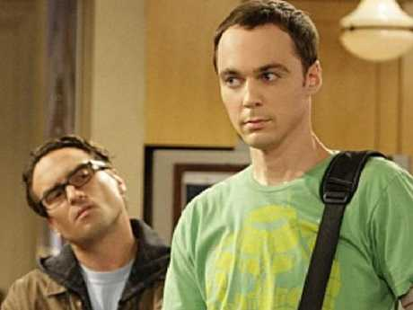 Johnny Galecki as Dr Leonard Hofstadter and Jim Parsons as Dr Sheldon Cooper in The Big Bang Theory.