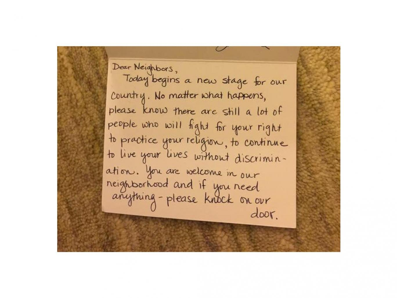 A picture of the note shared on Twitter by Hend Amry (@LibyaLiberty)