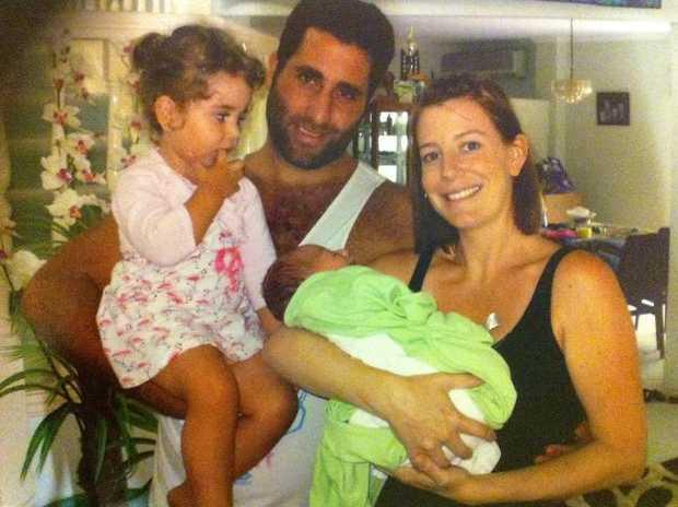 Lahela, Ali Elamine, Noah and Sally Faulkner in happier times.