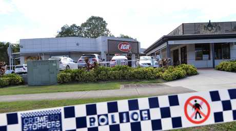 Police investigating the incident at the North Buderim shopping centre on Jones Rd overnight said the man, received knife wounds to his neck and arm.