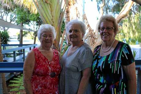 The three 10-year veterans: ( from left) Lynne Rix, Lesley Muir and Marie Mulcahy.