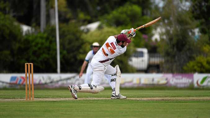 STRAIGHT DRIVE: Norths batsmen Matt Frost made 15 as  his side defeated Brothers in Division  1 on Saturday.