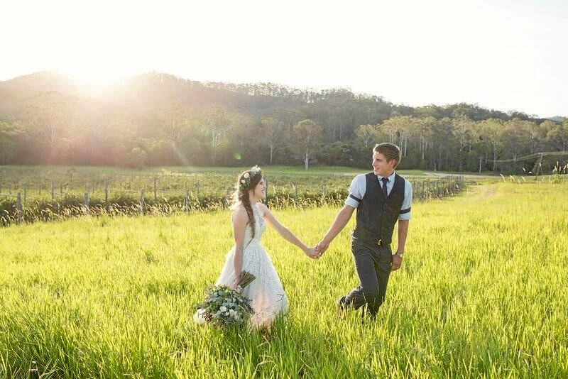 NEWLYWEDS: Zarha Ninness and Tate Graham were married at home on their Wilsons Pocket farm.