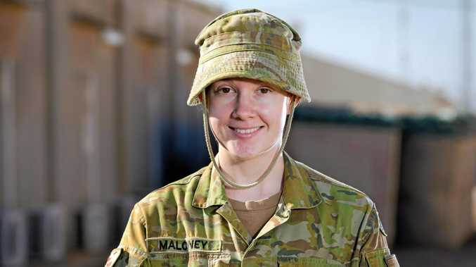 Casino-born and raised woman, now Australian Army soldier Private Shay Maloney, 22, from Task Goup Taji 4 at the Taji Military Complex, Iraq.