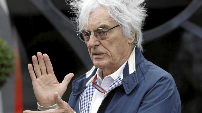 Bernie Ecclestone at the Silverstone racetrack in England.