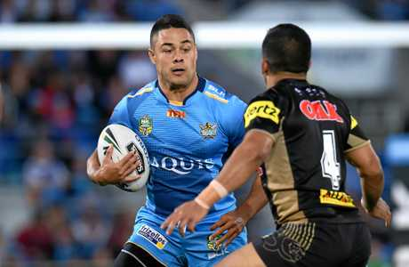 Jarryd Hayne of the Gold Coast Titans.