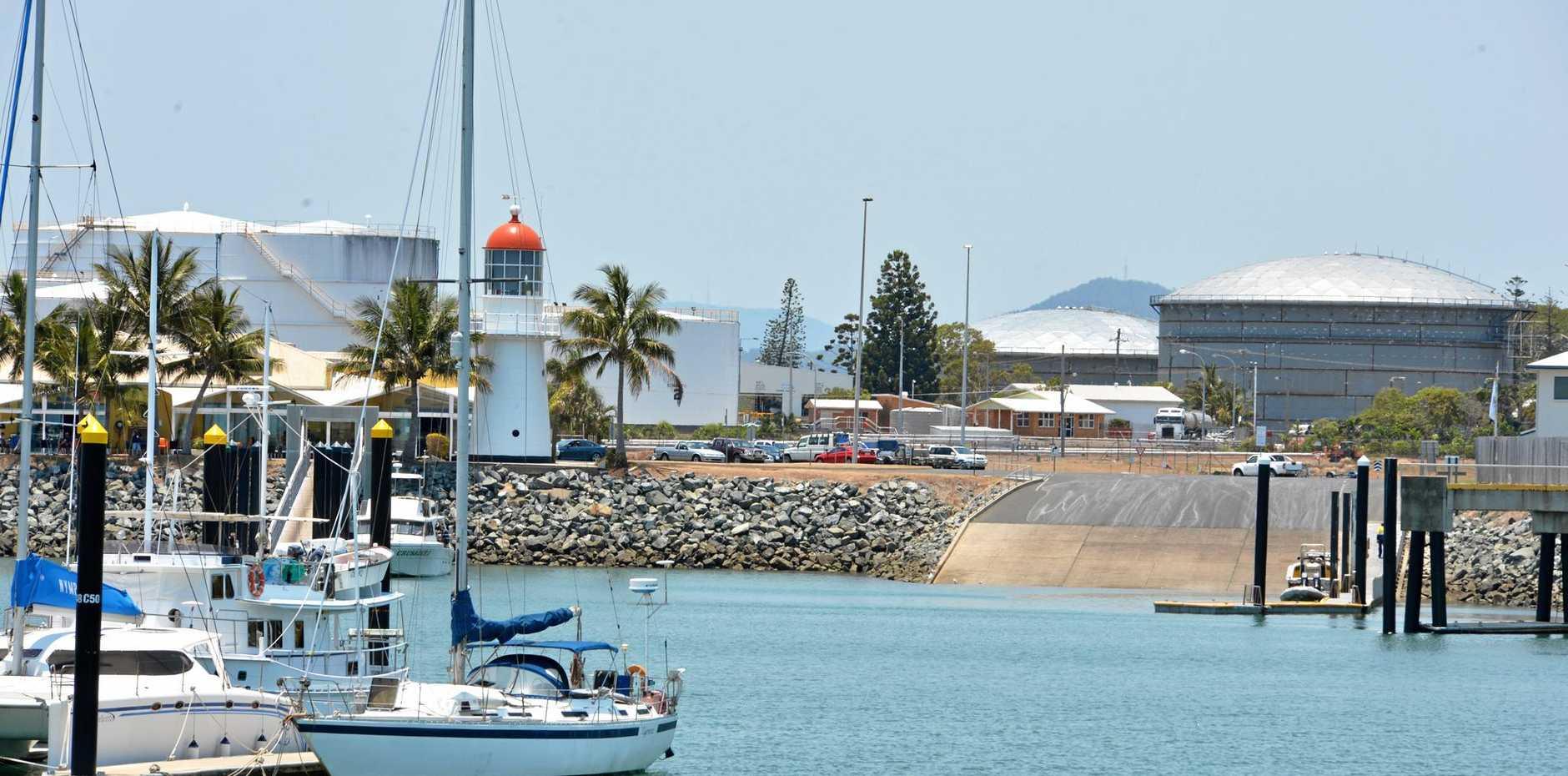 Mackay Marina boat ramp.