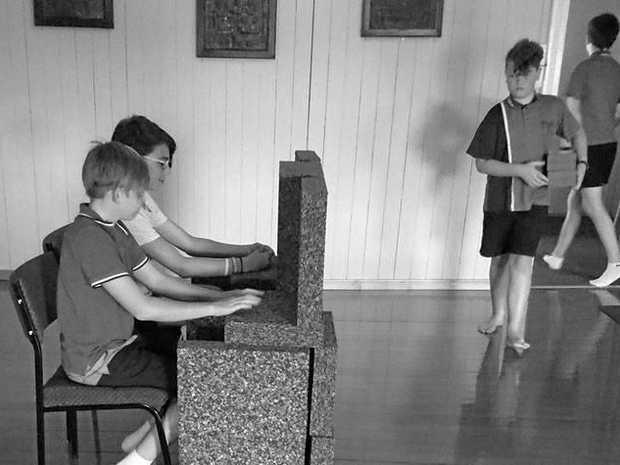 CREATIVE KIDS: (from Left) Jake Shrimpton, Jarrah Jones, Angus Paisley And Part 51