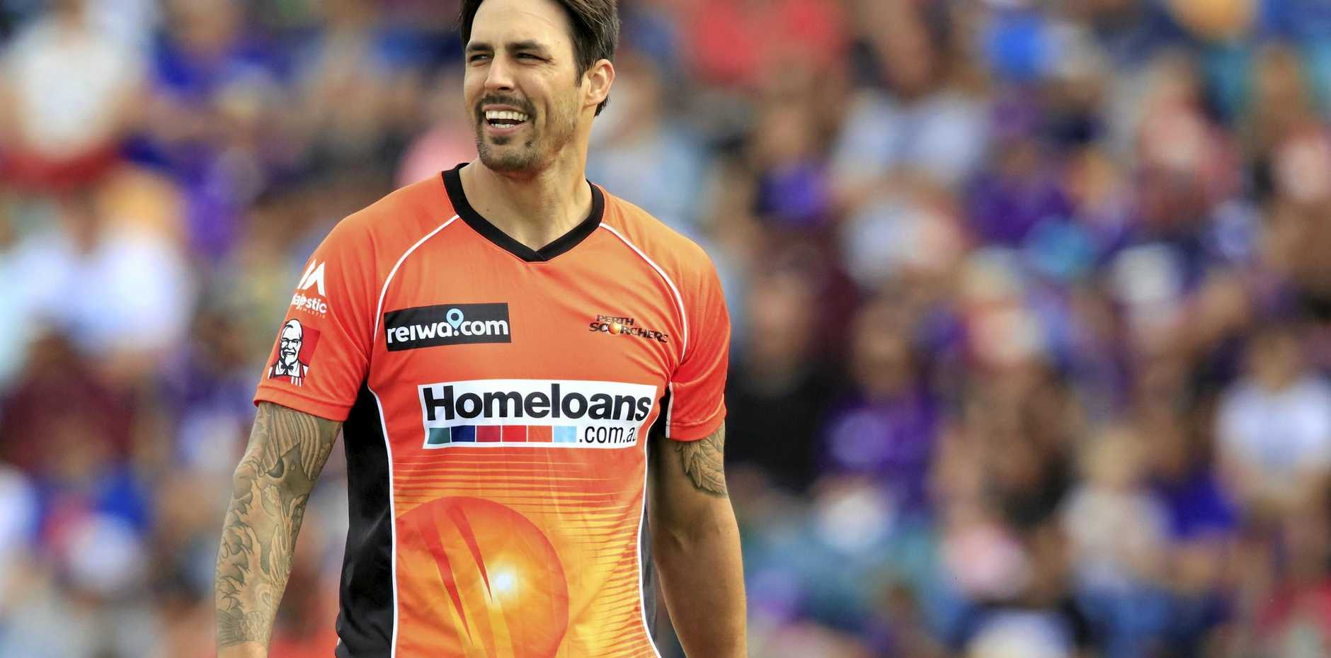 Mitchell Johnson of the Perth Scorchers.