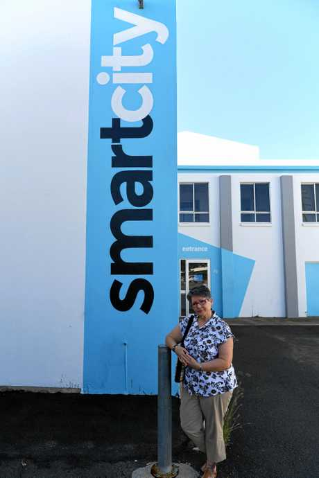 Wendy Walters outside the Smart City premises.