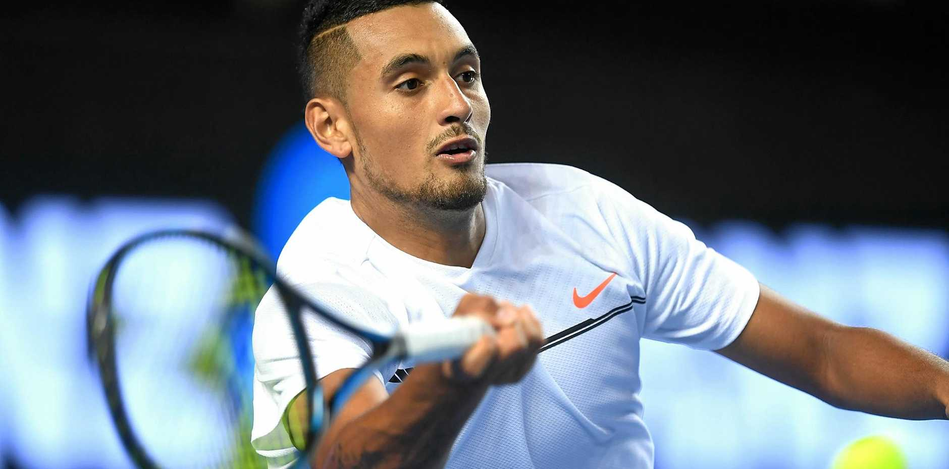 Nick Kyrgios of Australia during play against Andreas Seppi of Italy at the Australian Open.