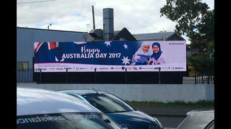 The billboard has returned after a major fundraising effort on Go Fund Me.