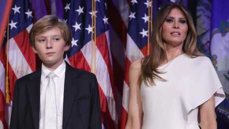 Melania Trump made a conscious decision to keep her son out of the spotlight during Donald Trump's campaign.