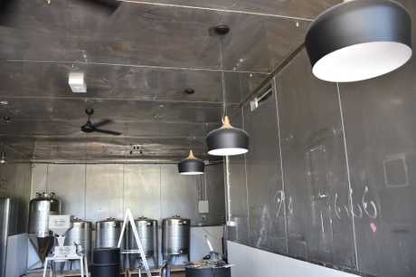 Inside the 4 Brothers Brewing which is planned to be open in mid-March.
