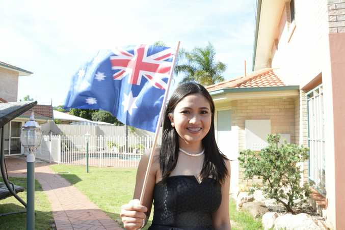 NEW CITIZEN: Toowoomba nurse Sheena Bundalian was officially sworn in as an Australian, along with more than 90 other people in a ceremony last night.
