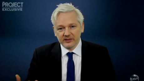 Julian Assange is grilled by Waleed Aly on The Project