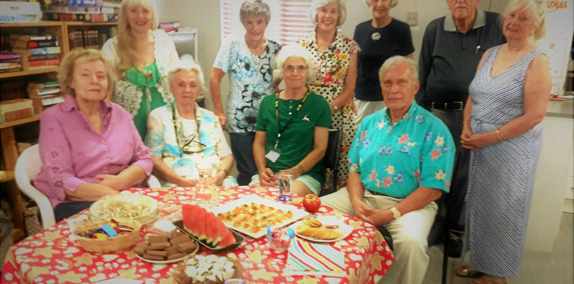 LEARN AND HAVE FUN: Students and Tutors at U3A Twin Towns enjoying a morning tea together and enjoying social activites.