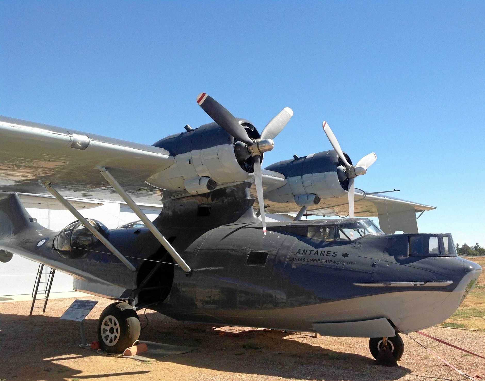 A Catalina flying boat at Qantas Founders Museum at Longreach.