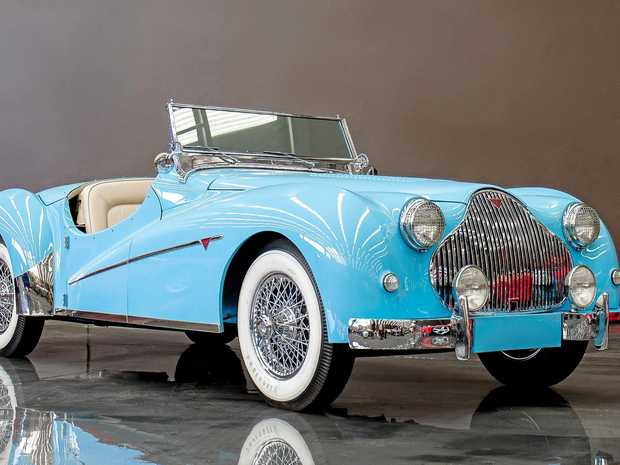 A 1950 Alvis TB14 Roadster is a highlight in the museum.