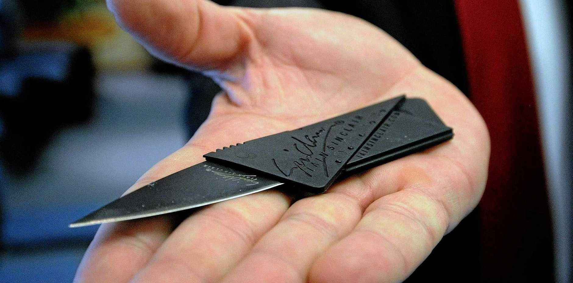 SURPRISE: Airport security staff uncovered a credit card knife in a woman's wallet at Gladstone Airport security (file photo).