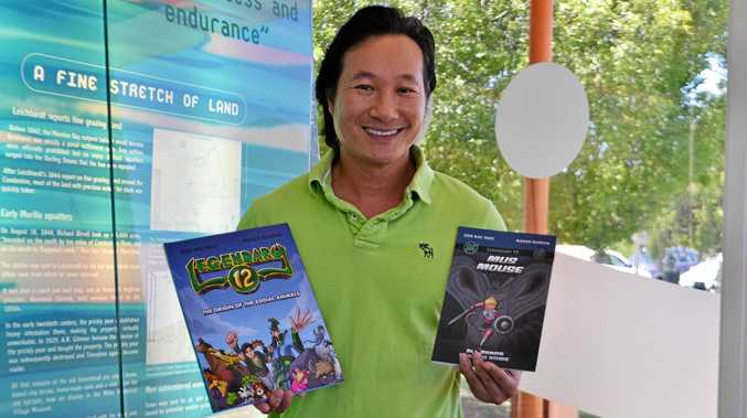 LEGENDARY: Miles local and business owner Son Ngo has just published his first two books in a graphic novel series despite barely passing English in high school after coming to Australia as a refugee.