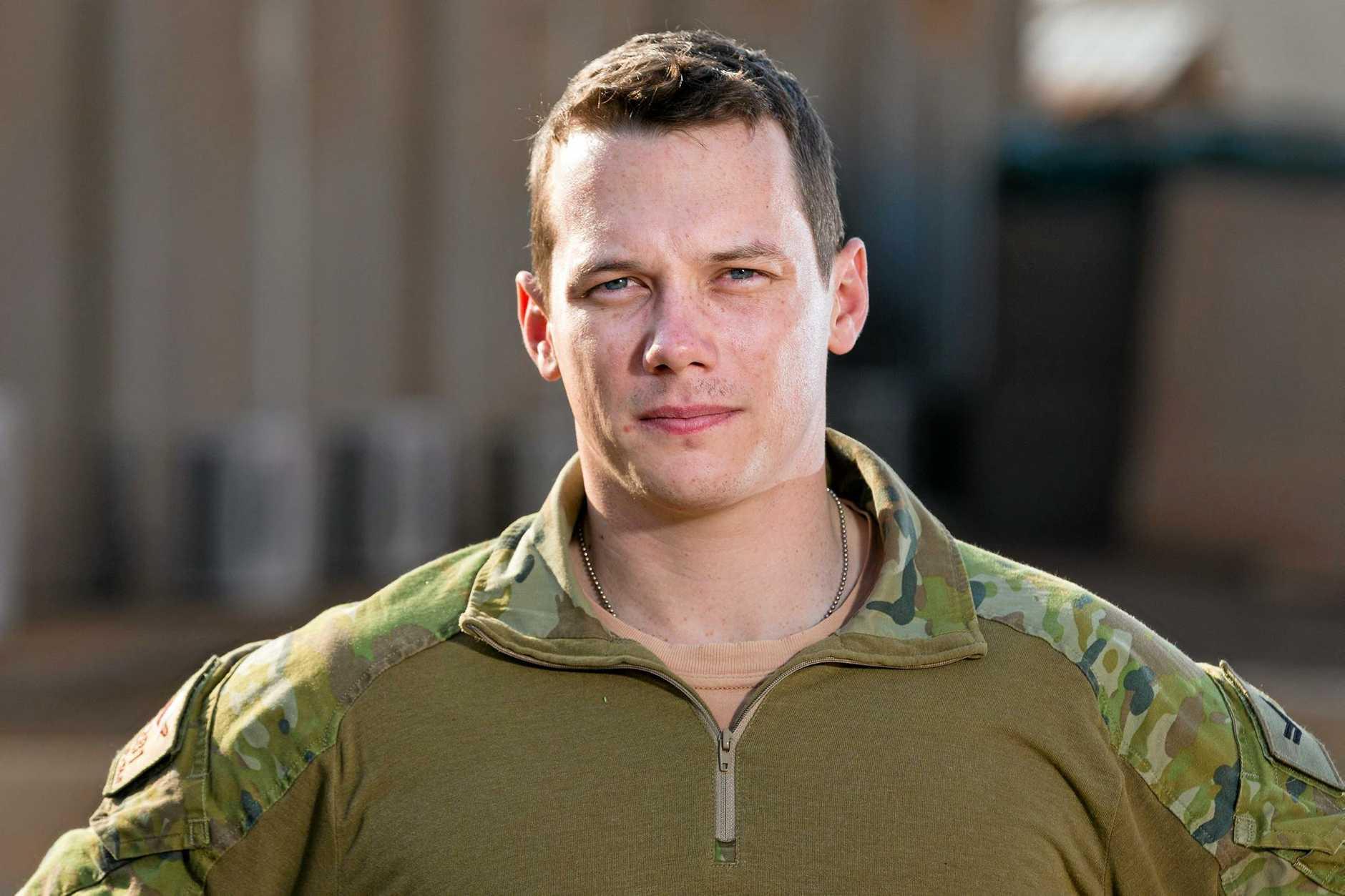 Australian Army soldier Corporal Elio Scarpelli Task Goup Taji 4 at Taji Military Complex, Iraq.