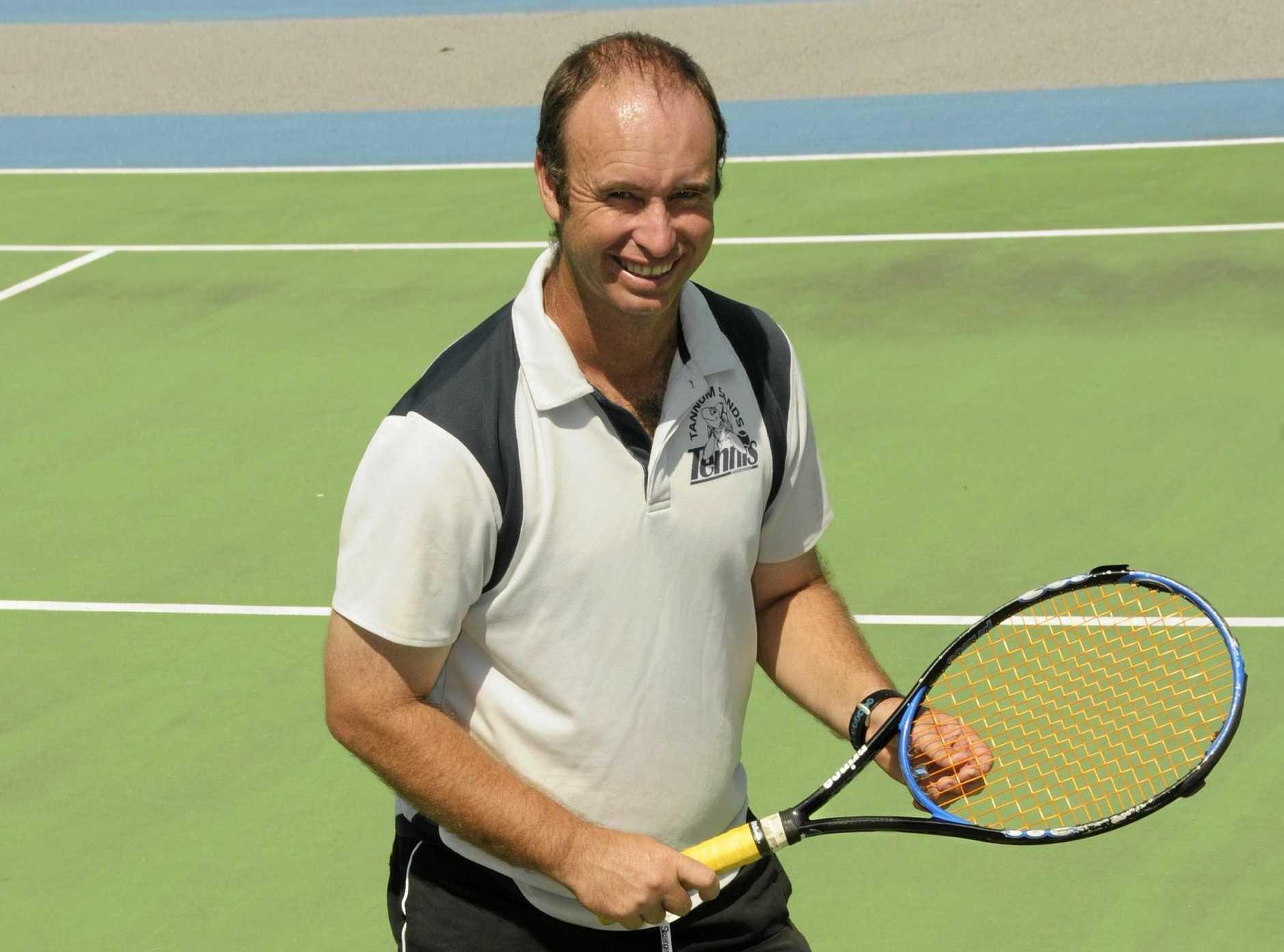 TENNIS: Tannum Sands Tennis Club president Steven White.