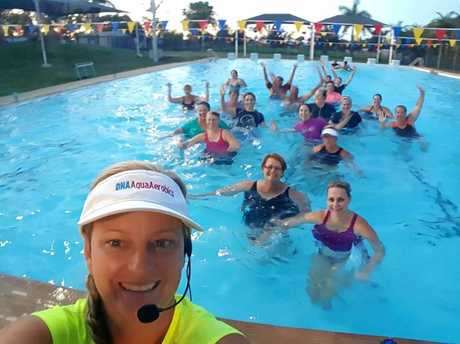 GREAT MATE: Teacher Donna Keech at DNA Aquatics is runnin a fundraiser for Maddison Pashley.