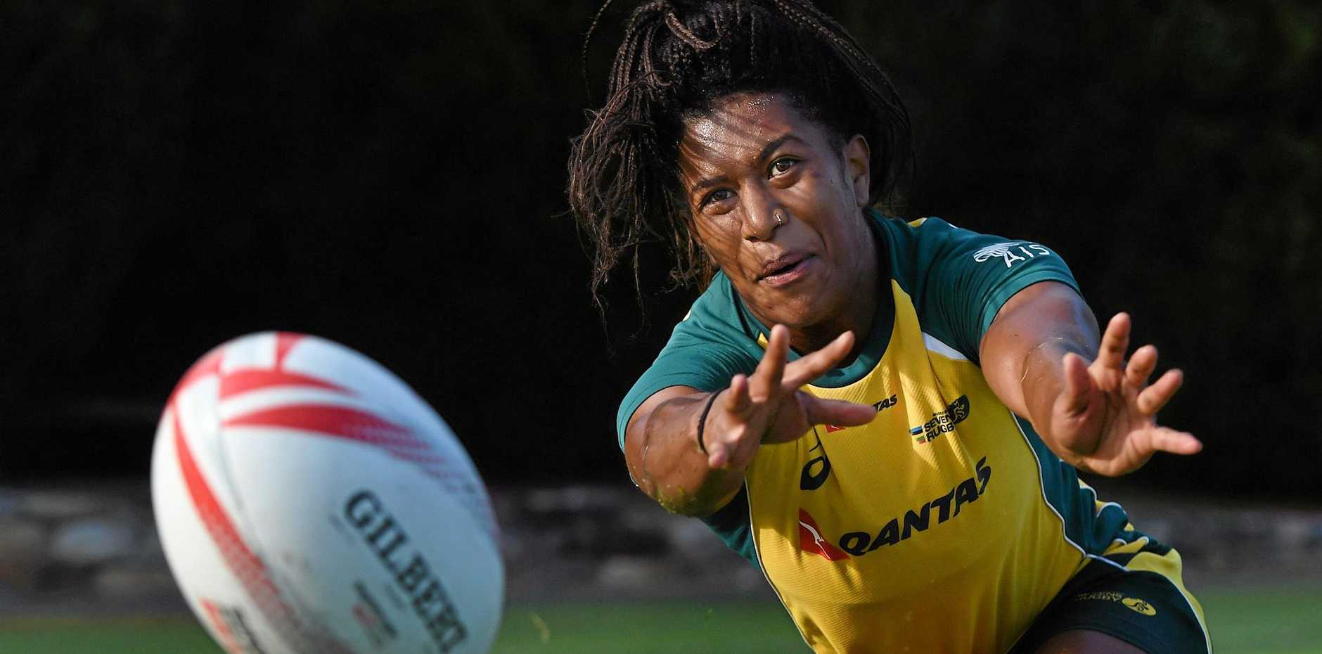 Australian Rugby Sevens team member Ellia Green during a team training session