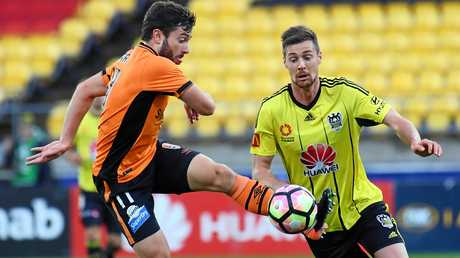 Staying put? ... Thomas Oar in action for the Brisbane Roar