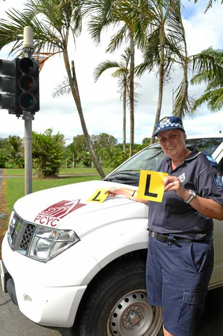 Branch Manager of Mackay PCYC Sergeant Kelsie Henderson with her Learner's Mentor program to help young people achieve their 100 hours of learner driving.