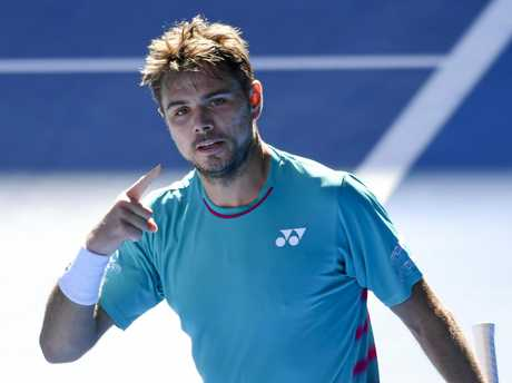 Stan Wawrinka after his win over Jo-Wilfried Tsonga