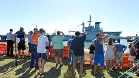 People came from far and wide to welcome the ship to Bundaberg.